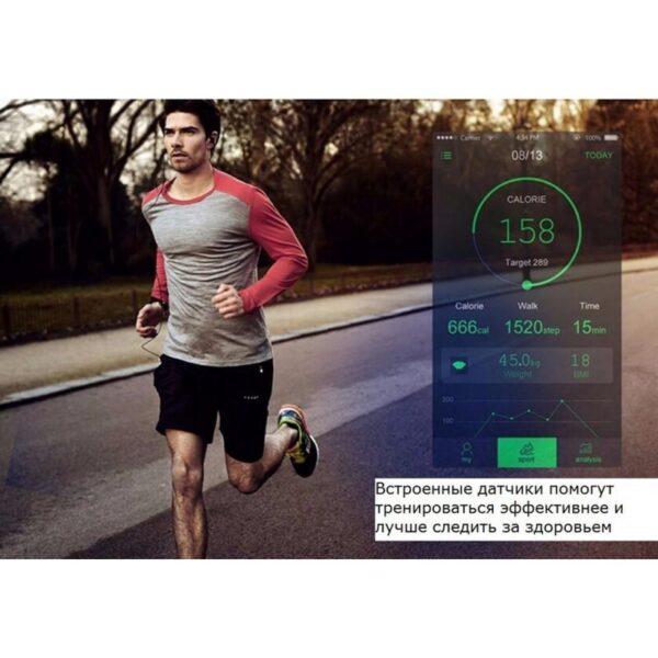 34529 - Умные фитнес часы No.1 G6 - Bluetooth 4.0, встроенный микрофон, шагомер, монитор сна, монитор сердечного ритма