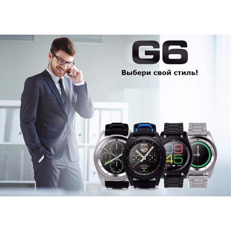Умные фитнес часы No.1 G6 – Bluetooth 4.0, встроенный микрофон, шагомер, монитор сна, монитор сердечного ритма 210770