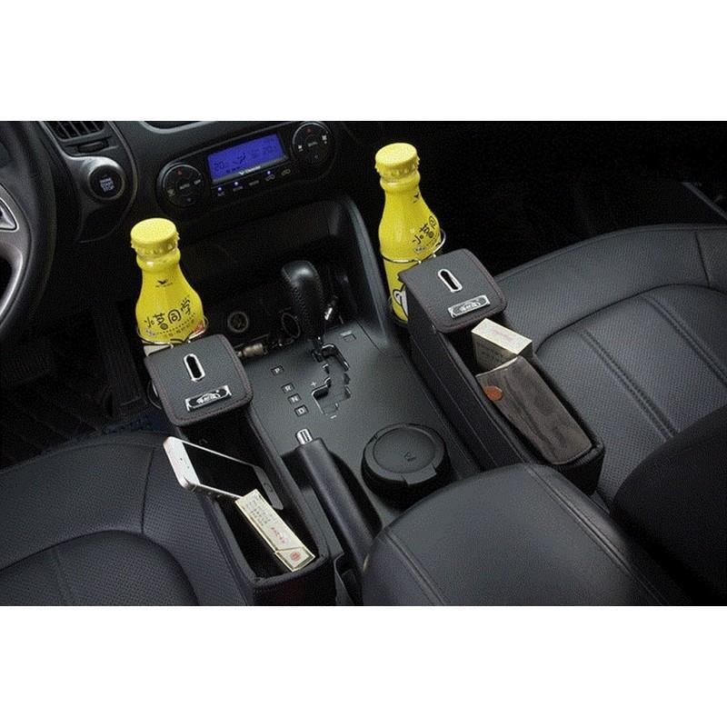 Автомобильный ящик-органайзер Dualbox для мелких вещей, мусора, стаканчиков и бутылок 210787