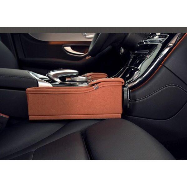 34558 - Автомобильный ящик-органайзер Dualbox для мелких вещей, мусора, стаканчиков и бутылок