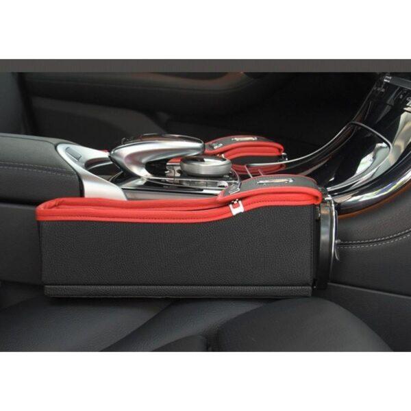 34559 - Автомобильный ящик-органайзер Dualbox для мелких вещей, мусора, стаканчиков и бутылок