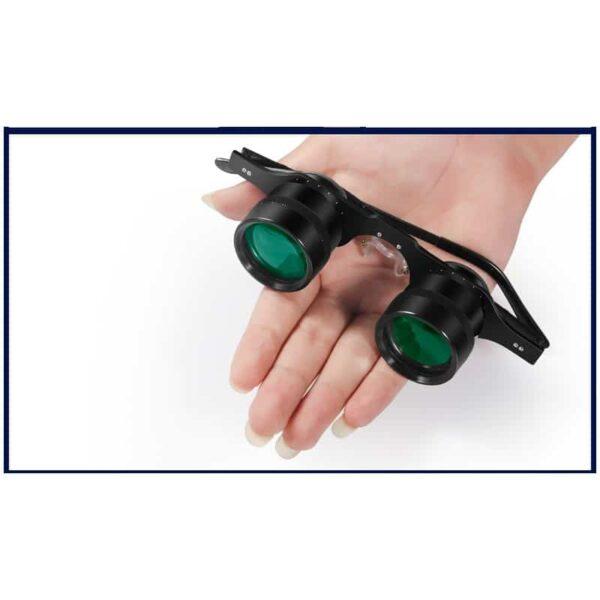 34580 - Ультрачеткие телескопические очки-бинокль 10x34 с 10-кратным увеличением и защитой от солнца (зеленые диоптрии)