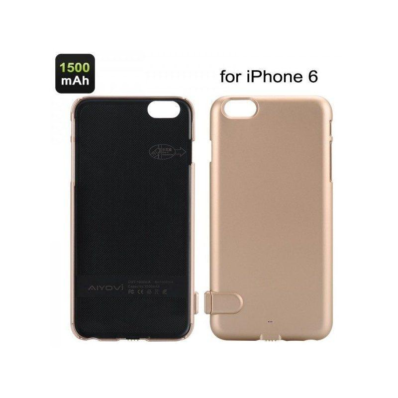 Внешний корпус-аккумулятор C-A483 для iPhone 6, 1500 мАч, индикатор питания, зарядка до 50000 раз