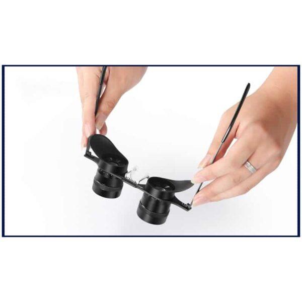 34585 - Ультрачеткие телескопические очки-бинокль 10x34 с 10-кратным увеличением и защитой от солнца (зеленые диоптрии)