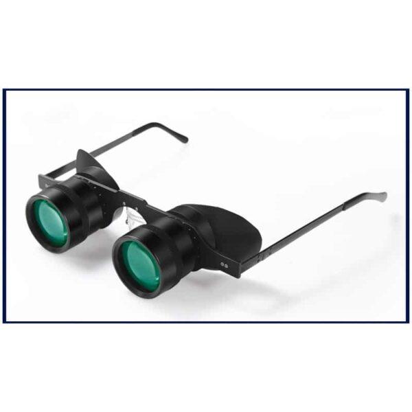 34586 - Ультрачеткие телескопические очки-бинокль 10x34 с 10-кратным увеличением и защитой от солнца (зеленые диоптрии)