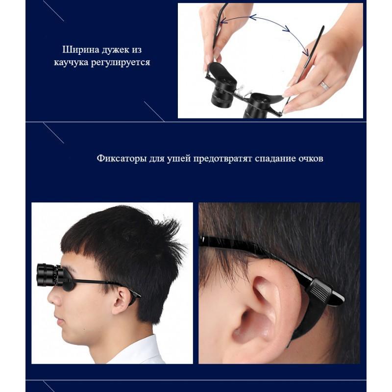 Ультрачеткие телескопические очки-бинокль 10×34 с 10-кратным увеличением и защитой от солнца (зеленые диоптрии) 210701