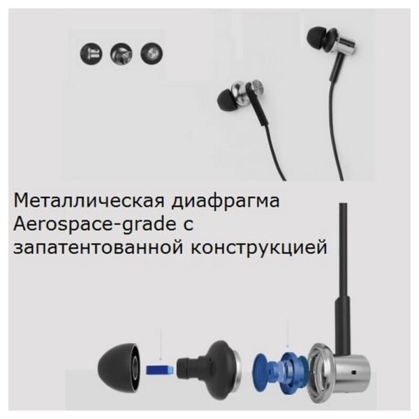 34602 - Оригинальные наушники-вкладыши Xiaomi Mi In-Ear - проводные, микрофон, 98 дБ, 32 Ом