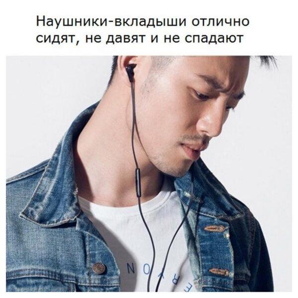 34617 - Бюджетные Hi-Fi наушники-вкладыши Xiaomi HSEJ02JY - пульт управления, микрофон, проводные