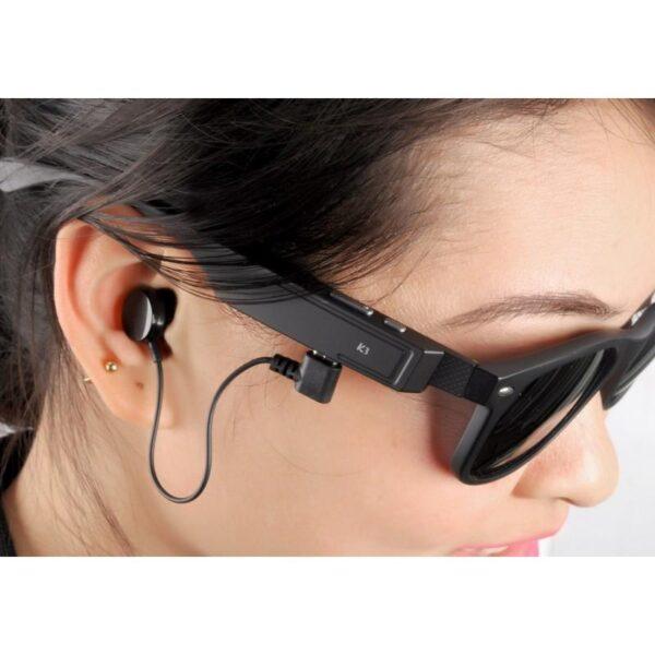 34621 - Солнцезащитные беспроводные Bluetooth очки - ответ на вызов, воспроизведение музыки до 4-х часов, 15 метров Bluetooth