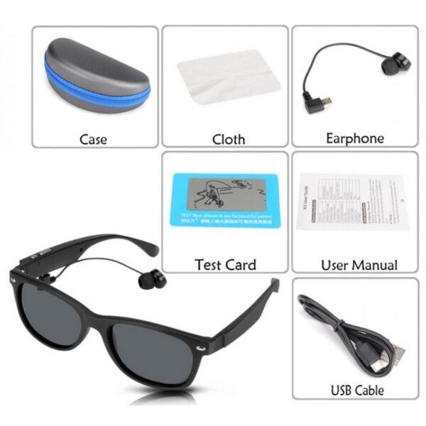 34623 - Солнцезащитные беспроводные Bluetooth очки - ответ на вызов, воспроизведение музыки до 4-х часов, 15 метров Bluetooth