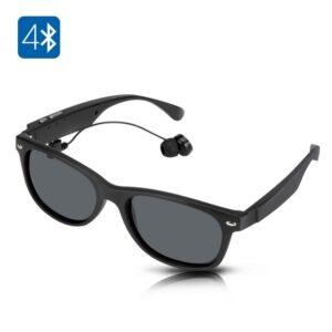 Солнцезащитные беспроводные Bluetooth очки – ответ на вызов, воспроизведение музыки до 4-х часов, 15 метров Bluetooth