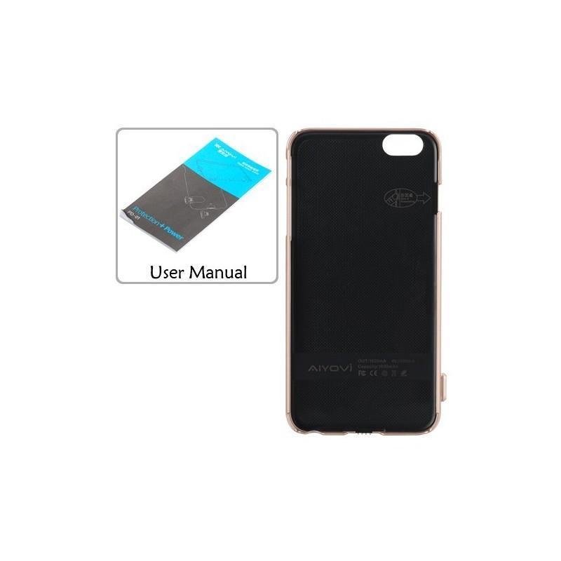 Внешний корпус-аккумулятор C-A483 для iPhone 6, 1500 мАч, индикатор питания, зарядка до 50000 раз 185230