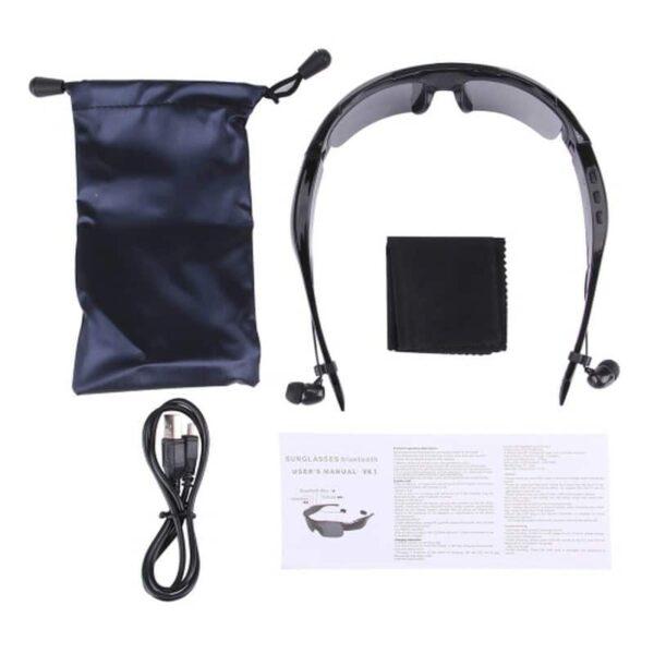 34635 - Солнцезащитные очки-стереогарнитура KALEMER KL-300 - Bluetooth 4.1 до 10 метров, до 5 часов разговора, воспроизведение музыки