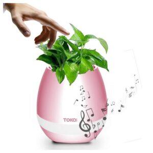 Музыкальный цветочный горшок TOKQI K3 – Bluetooth, 90 дБ, 1200 мАч, световое сопровождение
