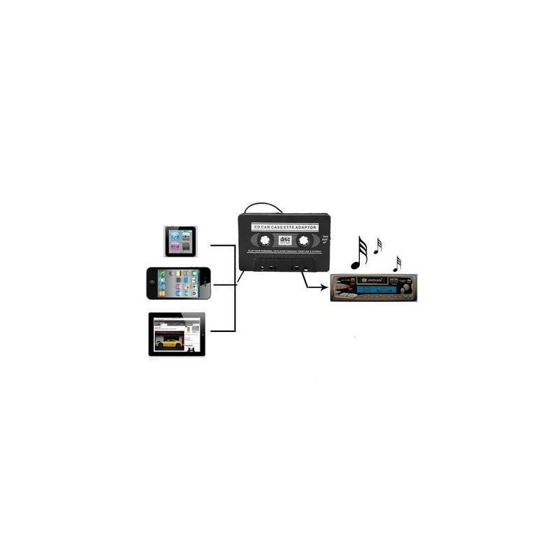 Кассетный адаптер Hunker для автомагнитолы для подключения телефона, MP3-плеера, iPod, CD-плеера 185238