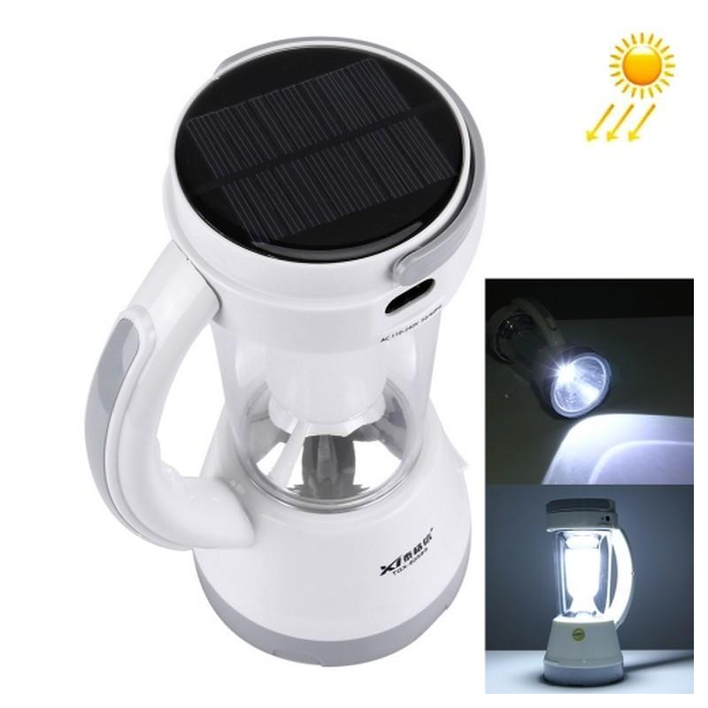 34753 - Портативный фонарь-прожектор TGX-6059S - 17 ламп, солнечная панель, 1500 мАч