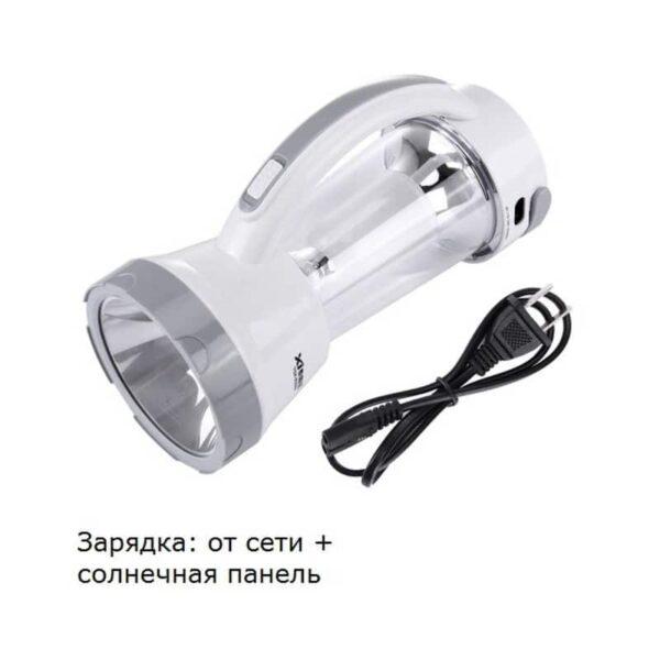 34758 - Портативный фонарь-прожектор TGX-6059S - 17 ламп, солнечная панель, 1500 мАч