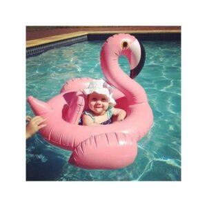 """Детский надувной круг-стульчик для купания """"Маленький фламинго"""""""