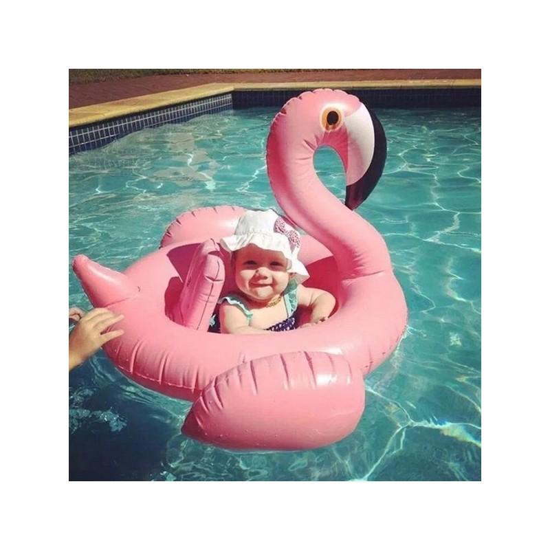"""34773 - Детский надувной круг-стульчик для купания """"Маленький фламинго"""""""
