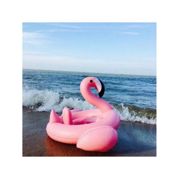 """34776 - Детский надувной круг-стульчик для купания """"Маленький фламинго"""""""
