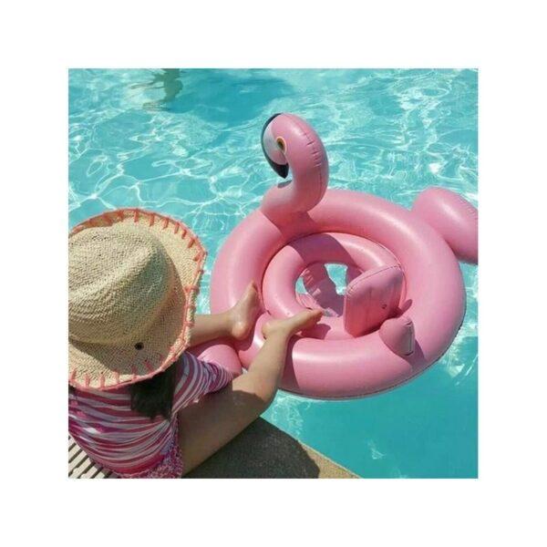 """34777 - Детский надувной круг-стульчик для купания """"Маленький фламинго"""""""