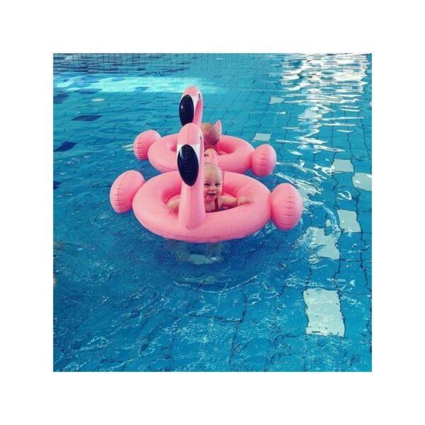 """34779 - Детский надувной круг-стульчик для купания """"Маленький фламинго"""""""
