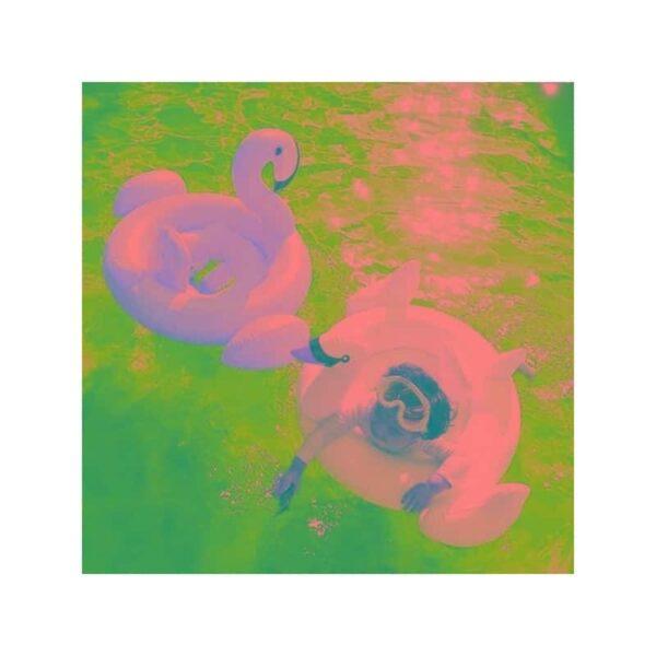 """34781 - Детский надувной круг-стульчик для купания """"Маленький фламинго"""""""