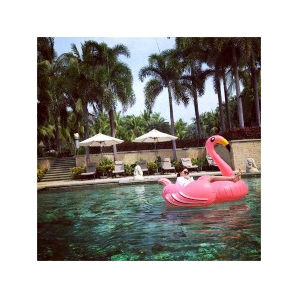"""34800 - Надувной матрас для плавания """"Розовый фламинго"""""""