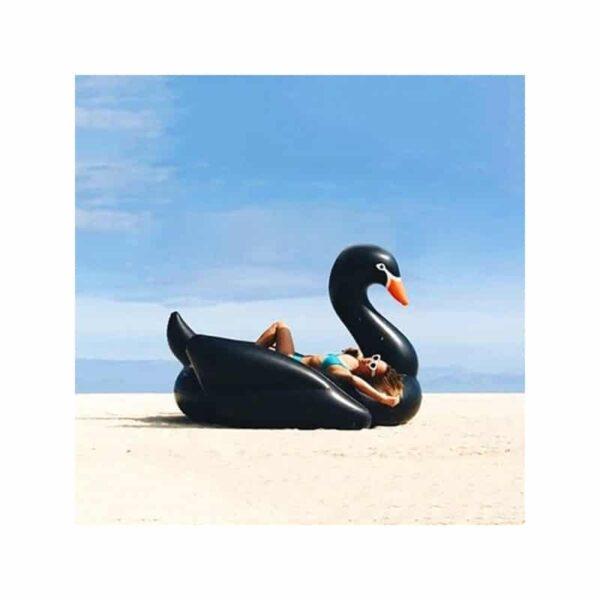 """34804 - Стильный надувной матрас """"Черный лебедь"""""""