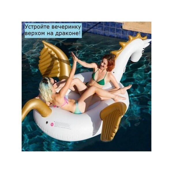 """34829 - Надувной матрас для купания в бассейне и не только """"Сказочный дракон"""""""