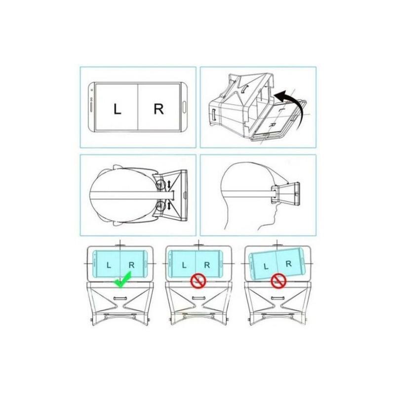 Универсальные VR 3D видео-очки виртуальной реальности S-0001 для смартфона от 3,5 до 6 дюймов 185250