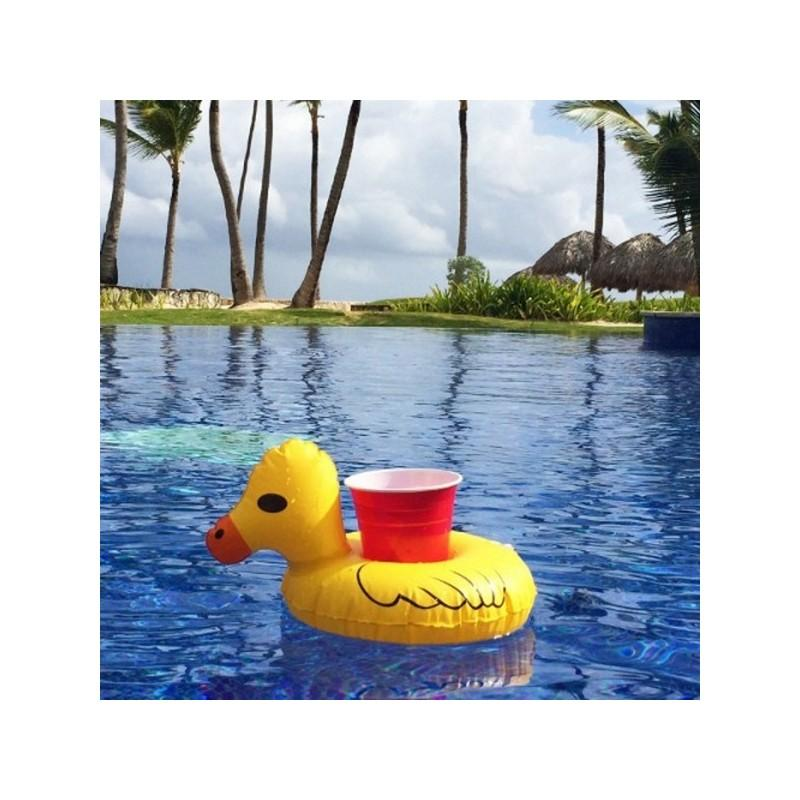 34894 - Надувной плавающий держатель-подстаканник для напитков Yellow duck