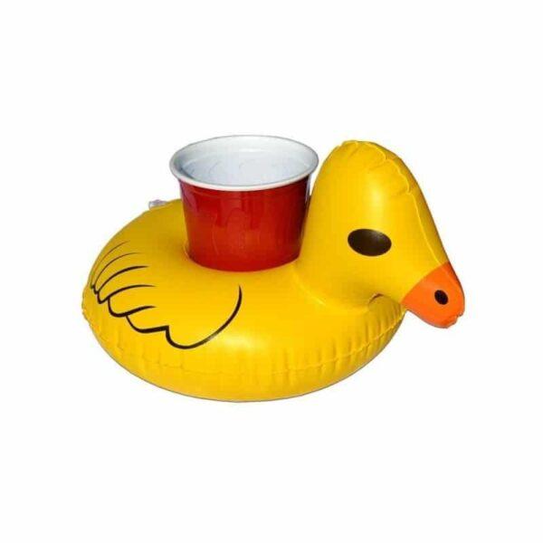 34896 - Надувной плавающий держатель-подстаканник для напитков Yellow duck