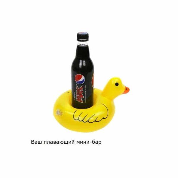 34897 - Надувной плавающий держатель-подстаканник для напитков Yellow duck
