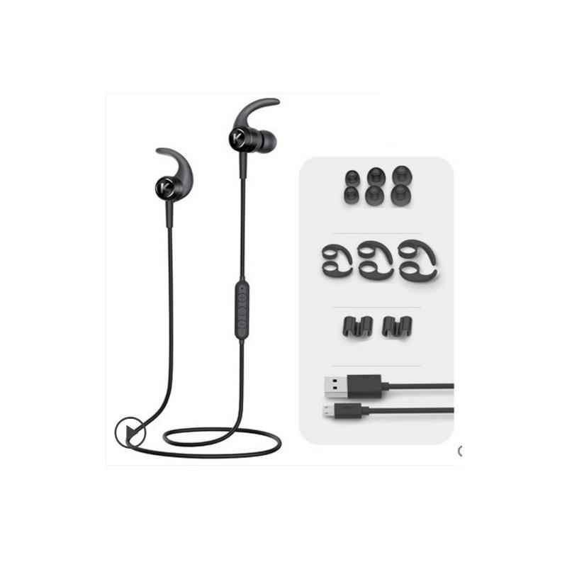 Bluetooth гарнитура Kugou M1 - Apt-X, до 10 часов музыки и разговоров, шумоподавление - Черный