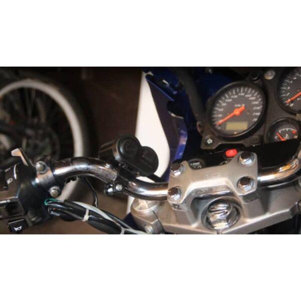 35023 - Мотоприкуриватель с USB-зарядным для мотоцикла/электровелосипеда с водонепроницаемой крышкой