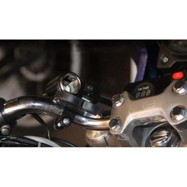 35024 - Мотоприкуриватель с USB-зарядным для мотоцикла/электровелосипеда с водонепроницаемой крышкой