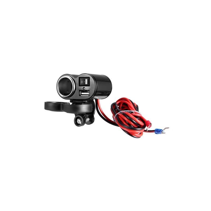 35025 - Мотоприкуриватель с USB-зарядным для мотоцикла/электровелосипеда с водонепроницаемой крышкой