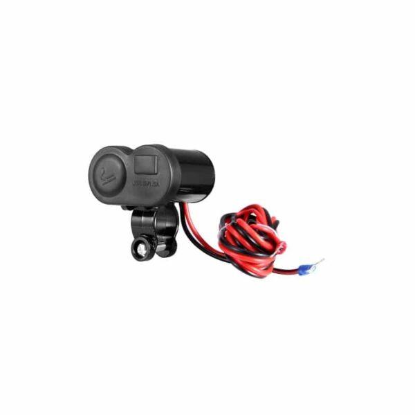 35026 - Мотоприкуриватель с USB-зарядным для мотоцикла/электровелосипеда с водонепроницаемой крышкой