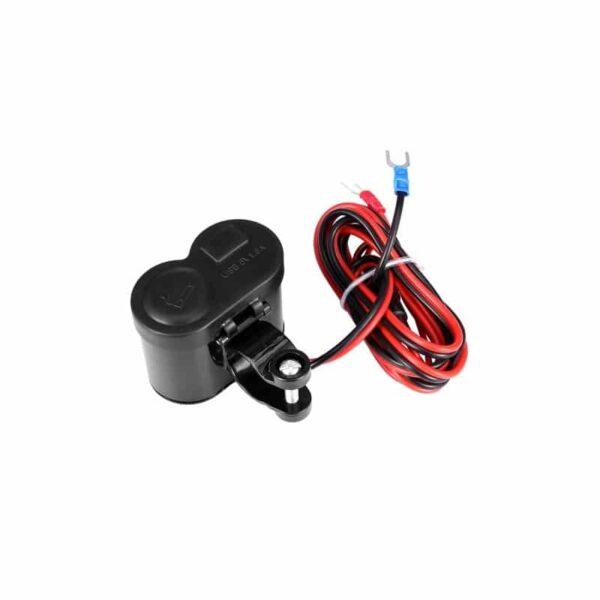 35028 - Мотоприкуриватель с USB-зарядным для мотоцикла/электровелосипеда с водонепроницаемой крышкой