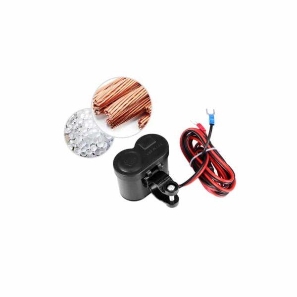 35034 - Мотоприкуриватель с USB-зарядным для мотоцикла/электровелосипеда с водонепроницаемой крышкой