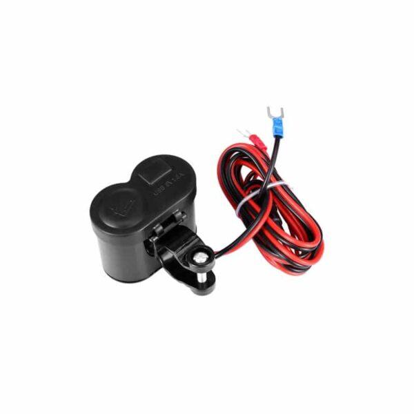 35036 - Мотоприкуриватель с USB-зарядным для мотоцикла/электровелосипеда с водонепроницаемой крышкой