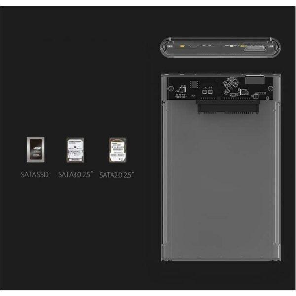 35046 - Внешний бокс для жесткого диска ORICO USB 3.0 - 2.5 дюйма, USB 3.0, до 2 Тб, поддержка HDD и SSD