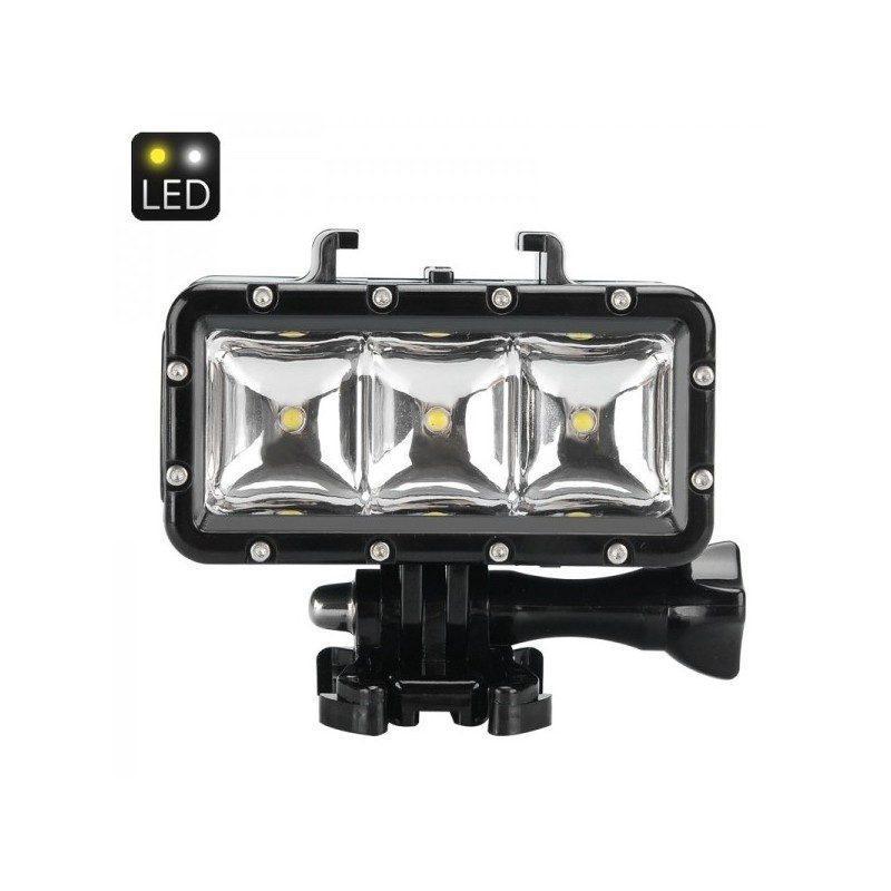 Светодиодная подсветка I-LT287 для экшн-камеры GoPro Hero и SJCAM, водонепроницаемость до 30 м, 300 люмен