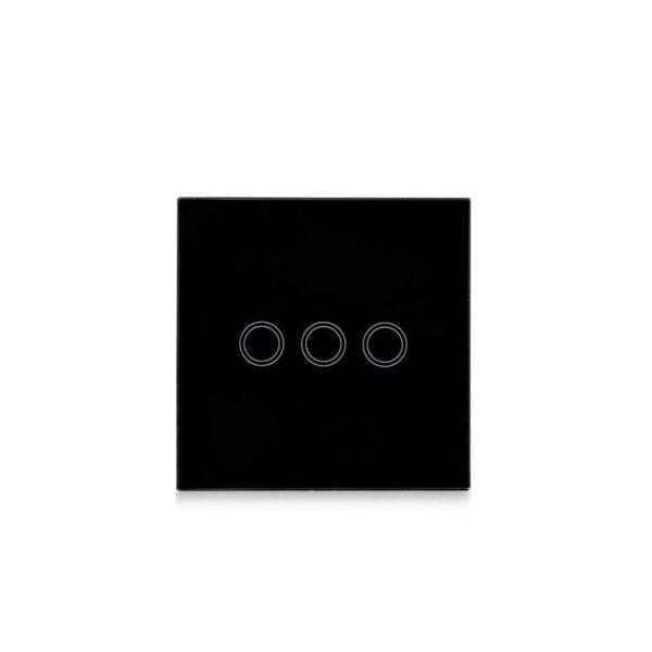 35136 - Сенсорный выключатель 3 в 1 Smart Home Light с подсветкой и дистанционным пультом RF433: закаленное стекло, защита от молнии