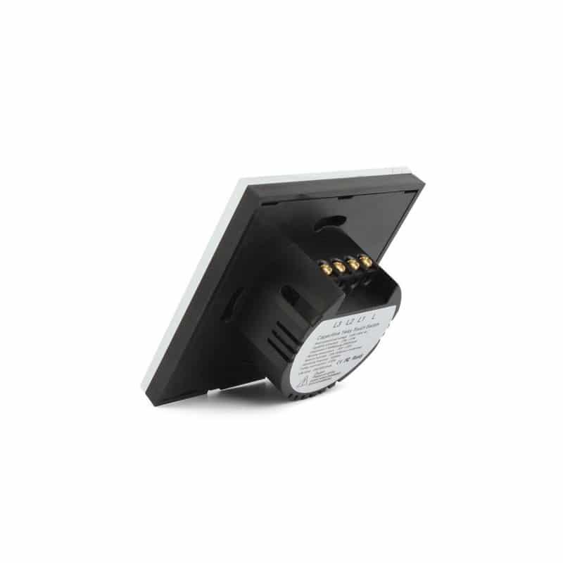 Сенсорный выключатель 3 в 1 Smart Home Light с подсветкой и дистанционным пультом RF433: закаленное стекло, защита от молнии 211286