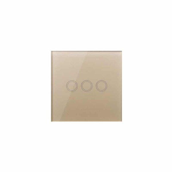 35144 - Сенсорный выключатель 3 в 1 Smart Home Light с подсветкой и дистанционным пультом RF433: закаленное стекло, защита от молнии