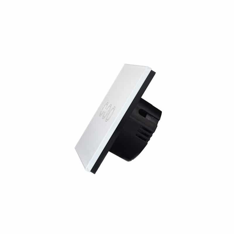 Сенсорный выключатель 3 в 1 Smart Home Light с подсветкой и дистанционным пультом RF433: закаленное стекло, защита от молнии 211292