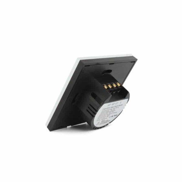 35147 - Сенсорный выключатель 3 в 1 Smart Home Light с подсветкой и дистанционным пультом RF433: закаленное стекло, защита от молнии