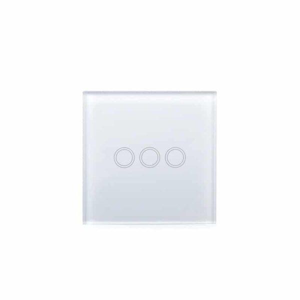 35151 - Сенсорный выключатель 3 в 1 Smart Home Light с подсветкой и дистанционным пультом RF433: закаленное стекло, защита от молнии